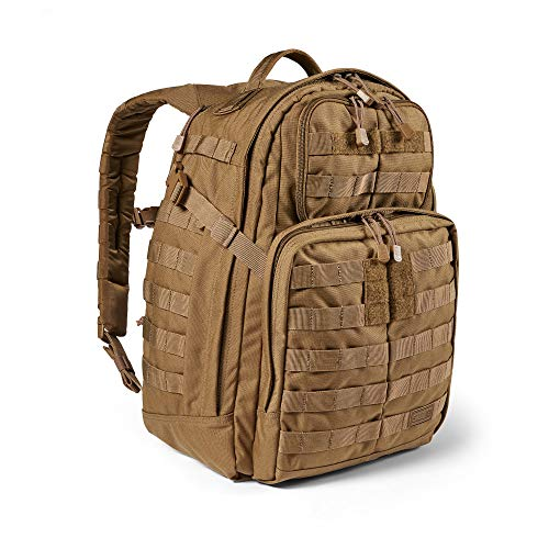 5.11 Tactical Backpack – Rush 24 2.0 – Military Molle Pack, CCW and Laptop Compartment, 37 Liter, Medium, Style 56563 – Kangaroo
