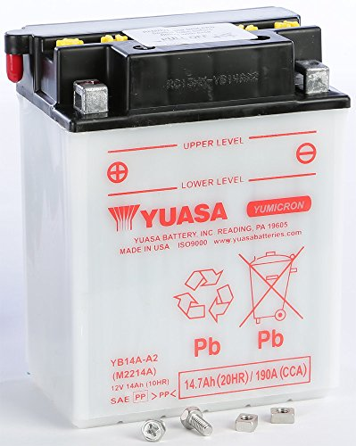 Yuasa Batteries YUAM2214A (PLT-250) Battery Yb14a-A2