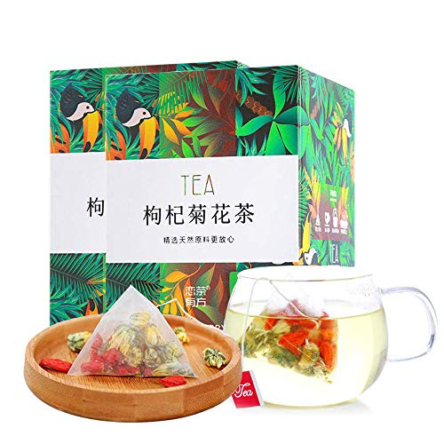 2 Boxes Goji Berries Chrysanthemum Tea Bags (24bags), 枸杞菊花茶, Chinese Pure Nature Wolfberry Health Care Mixed Tea, Combination Tea