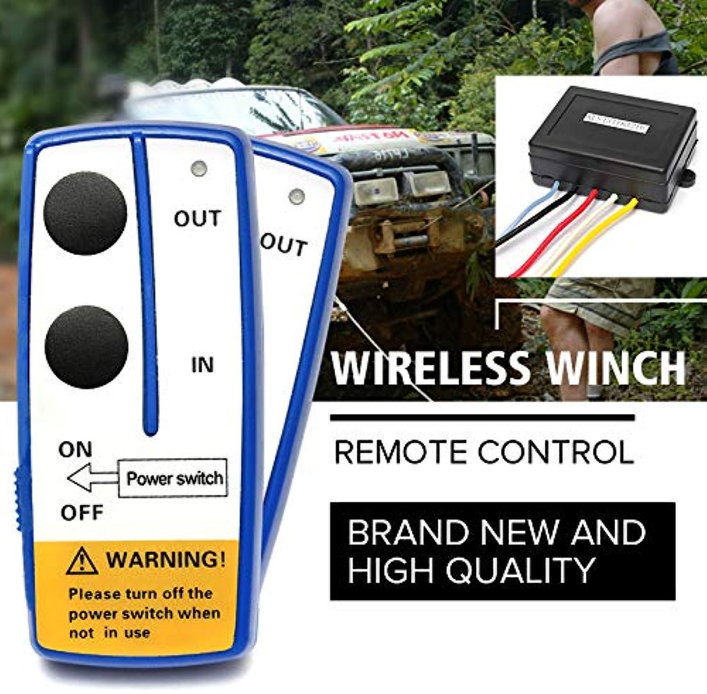 SalaStore  Universal 3pcs 12V 50ft Car Wireless Smart Winch Remote Control Kit Manual Transmitters Set for Jeep ATV SUV Truck Auto Vehicle