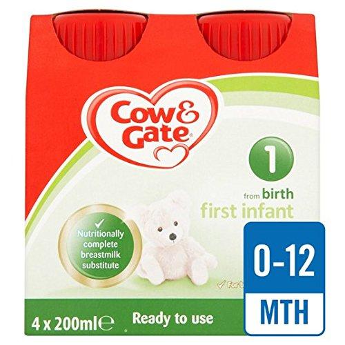 Cow & Gate 1 Erste Milch Bereit Multi 4 x 200 ml Feed