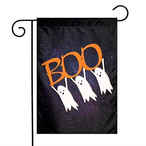VVGETE Jardín Banner De Boo G-Host Bandera De Jardín 30 X 45 Cm Patio Trasero Bienvenido Divertido Y Colorido Banner De Patio Banderas Decorativas De Navidad Al Aire Libre Bandera De Pat