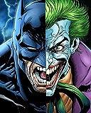 Peinture Par Numero Adulte Batman contre Joker Peinture au Numéro Kits avec Brosses et Peintures Acryliques pour Adultes Enfants Seniors Débutant - 40*50 cm (avec Cadre)