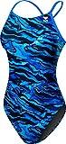 TYR Girls Miramar Cutoutfit Swimsuit, Blue, 24