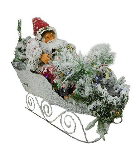 Christmas Concepts Ltd 88cm Flocado Santa en Trineo Extra Grande decoración de Navidad con la función Multi del...