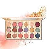 JWR Sombra De Ojos 18 Colores Set De Maquillaje De Paleta De Sombras De Ojos Maquillaje Caja Profesional,Pink