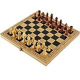 Jaques of London - Juego de ajedrez plegable de madera de calidad para ajedrez (29 x 14 x 4,8 cm)