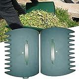 N/Y 1 par de cucharas de jardín para jardín, rastrillo Manual Recogedor de Hojas Grandes Agarra agarradores de Hierba con Garras de Hojas para Recoger la Hierba Fácil de Recoger
