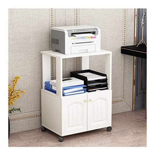 Carro ruedas Impresora rack rack de almacenamiento de copia de oficina estante extraíble Librería Planta de almacenamiento en rack caja de almacenamiento soporte para fotocopiadoras e impresoras
