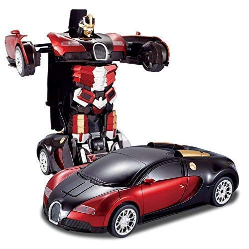 Tec Tavakkal Plastic Battery Operated Converting Car to Robot, Robot to Car Automatically,Robot Toy, with Light and Sound for Kids Indoor and Outdoor 3 Year, Pack of 1, Multicolor