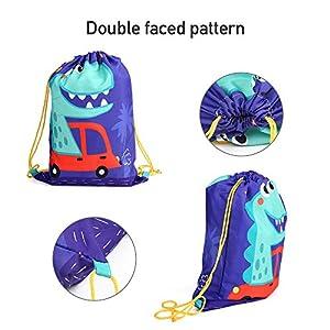 51aJc5Lq93L. SS300  - BeebeeRun 10Pack Bolsas de Cuerdas para Infantil,Mochila con Cordón Niños Bolsas Regalo Cumpleaños Deporte Gimnasio…
