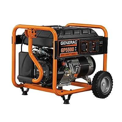 Generac 5945, 5500 Running Watts/6875 Starting Watts, Gas Powered Portable Generator, CARB Compliant