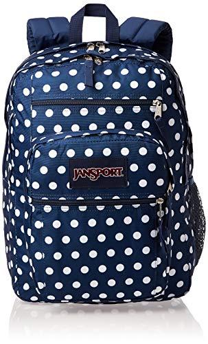 JANSPORT Big Student Backpack - 15-inch Laptop School Bag, Dark Demin Polka Dot