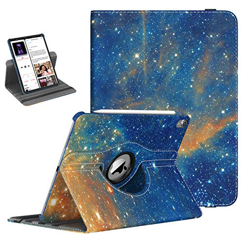 TiMOVO Folio Case for iPad Pro 11 Inch 2018 - [Support Apple Pencil Charging] 360 Degree Rotating Smart Leather Swivel Case with Auto Sleep/Wake for Apple iPad Pro 11' 2018 - Sky Star