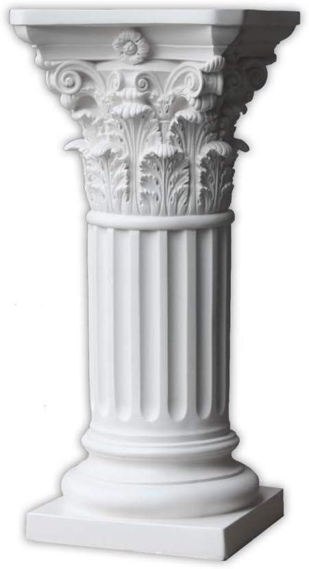 ResinArt Pedestal - Roman Popular Off Super popular specialty store Corinthian Style White