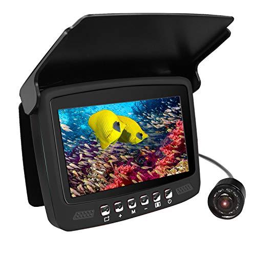 Portable Underwater Fishing Camera, Anysun 4.3' Monitor Ice Fishing Camera with Sun-Visor 8pcs...