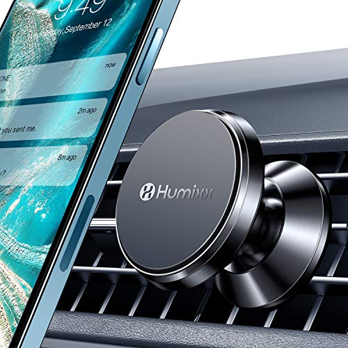[2021 Upgraded] Magnetic Phone Mount for Car, [Industry First 8 Powerful Magnets] Humixx Hands-Free Super Magnetic Car Air Vent Phone Holder Compatible with iPhone 12 11 Pro Max SE Samsung & Any Phone