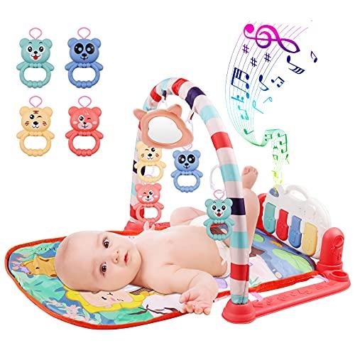 Tappetino da Gioco con Pianoforte per Bambini, MOOKLIN ROAM Tappetino Neonato Giocattoli con Musica e Luci, Soffice Tappetino e Giochi per Bambini, Ragazzi e Ragazze