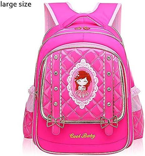 LFSHUB Neue Kinder Taschen Für Schulrucks e mädchen Prinzessin Schultaschen Pu-Leder Gründschule Rucksack Rucksack Kinder Schulranzen