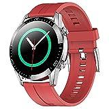 Bluetooth Call Smart Watch Ladies, Ladies Fitness Tracker IP68 Reloj Deportivo Impermeable con oxígeno en Sangre Frecuencia cardíaca Monitoreo de la presión Arterial Red