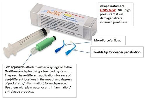 Oral Breeze Deep Pocket Irrigator, Tips and Syringe for Deeper Infections