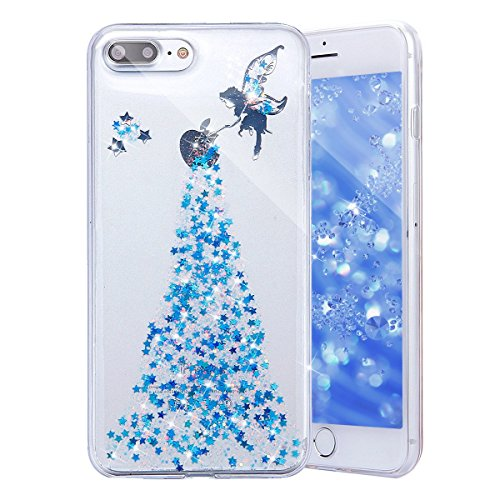 deco fairy iphone 6 case rubbers Sunday Gallery Fairy Angel Girl Pattern Shiny Glitter Flexible Soft Rubber Gel Clear TPU Cases Silicone Back Case Compatible with iPhone 7 Plus iPhone 8 Plus 5.5