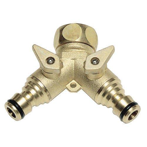 Adaptateur tuyau. En laiton 2 prises pour robinet 3/4