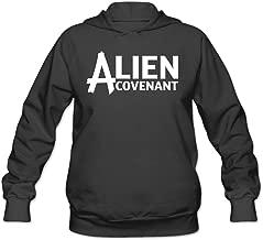 CEDAEI Women's Alien Covenant Hoodies Sweater Without Kangaroo Pocket Black