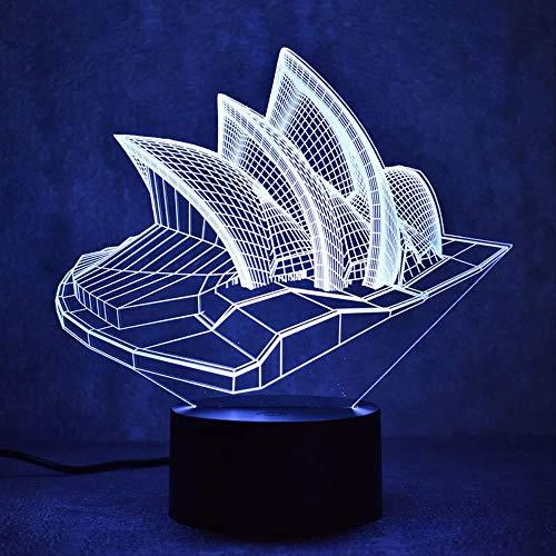 7 Farben Smart Touchtable Lampen Für Das Studium Weihnachtsgeschenke Neuheit 3D Led Tischlampe Visualtouch Schalter Mit Usb-Kabel Für Kinder Baby Raumdekoration Kreative Chirsmas Geburtstagsgeschenke
