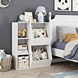 HOMECHO 5 Cubby Kids Bookcase, Children's Toy Storage Cabinet, Wide Toddler Bookshelf for Playroom, Reading Nook, Nursery, White
