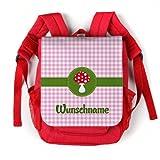 Striefchen® Rucksack für Kinder - Glückspilz - Wunschname Rot