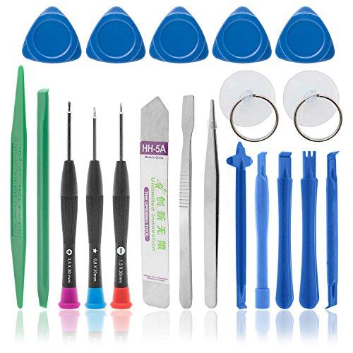 BaboTech 20-teiliges Universal-Handy Reparatur Werkzeug Set für Ihr iPhone, Galaxy, PC oder Laptop enthält die wichtigsten Werkzeuge im Kit.