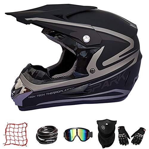 XJBQ Casco de moto Cross Country para niños, casco de bicicleta de...