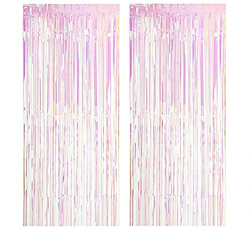 Lovelegis Party tents - birthday - metallic - fringes - window fittings - doors - 1.90 x 1 m long - pink color - 2 piece pack - Christmas and birthday gift idea