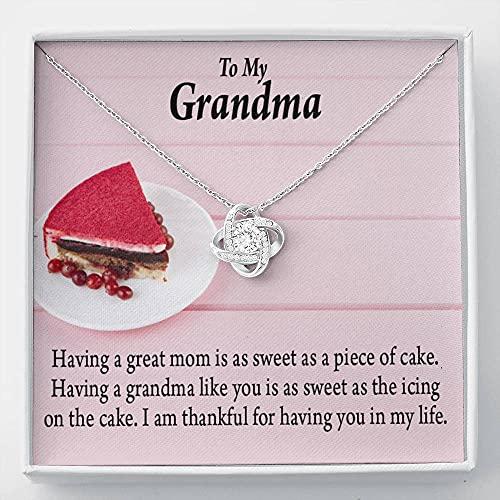 Abuela Collar Grandma is The Sweetest.png 1 tarjeta de mensaje de nudo de amor