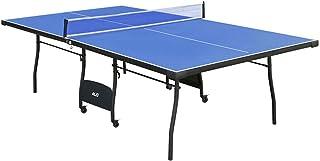 hj Mesa de Ping Pong Plegable 274*152.5*76CM con Ruedas de Bloqueo y Red, Ideal para Jugar en casa!