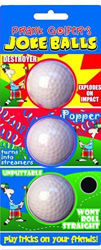 Longridge Uni Golfbälle Jux 3 Stück, Weiß