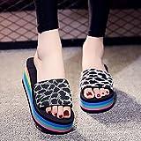 zapatillas de casa para mujer verano,Zapatillas frescas de verano femenino, ropa de mujer gruesa de tacón alto de tacón alto, zapatos de playa, chalcohol, natación, baño, cámara, zapatillas de interi