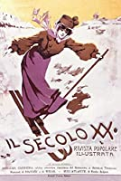 ERZAN大人のパズル100020世紀フランスでスキーをする人気のイラスト入り女性減圧ジグソーおもちゃキッズギフト