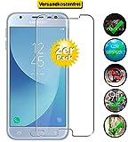 Smartphone-Equipment [2er Pack] Panzerglas für Samsung Galaxy J3 2017 Echt-Hartglas 9H, Displayschutz Panzerfolie Glasfolie Schutzfolie Glas Folie Display Schutz