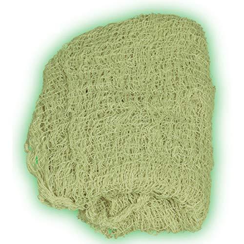 Amakando Appariscente Stoffa Decorativa Luminosa Anche di Notte / 75 x 180 cm / Versatile Tessuto Utilizzabile Come Articolo Decorativo / Creato per Feste dell´Orrore