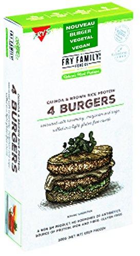 4 Steaks Burgers Végétale Quinoa et Riz 100% VEGAN 260g Quinoa Burgers
