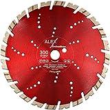 Premium - Disco de corte de diamante (300 - 400 mm x 25,4 mm, para granito, acero, hormigón y piedra natural, apto para amoladora de corte, mesas de corte)