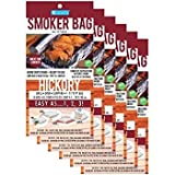 Camerons Smoker Bags - Set of 6 X Large Hickory Smoking Bags for Indoor or Outdoor Use - Easily Infuse Natural Wood Flavor (11in x 19in) Holds Entire Meal