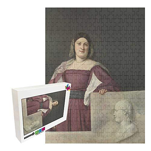 Jimoon 1000 piezas de rompecabezas para adultos y niños rompecabezas de madera TITIAN PORTRAIT DE UNA SEÑORA (LA SCHIAVONA)