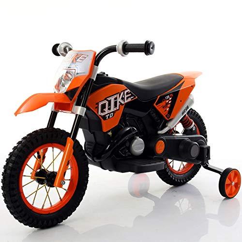 babyfun Moto Elettrica per Bambini 6V Arancione