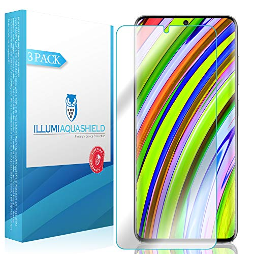 ILLUMI AquaShield Screen Protector Compatible with Samsung Galaxy S20 Plus (S20+ 6.7 inch) (Compatible with Cases)(3-Pack) No-Bubble High Definition Clear Flexible TPU Film