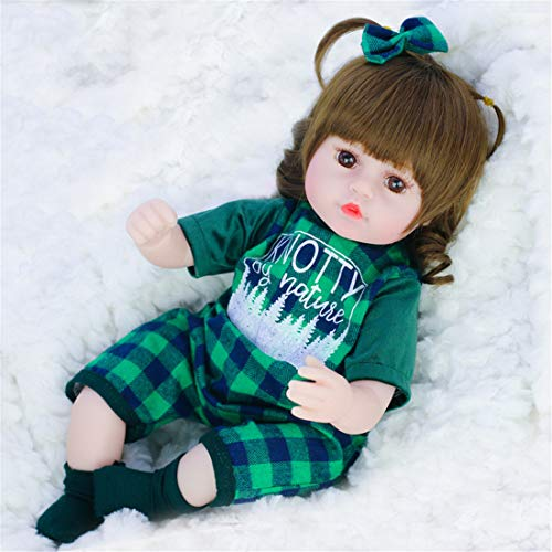 PPMM Lifelike Reborn Baby Dolls 16 Inch Real Looking Weighted Reborn Girl Doll Best Birthday Set for Girl Age 3