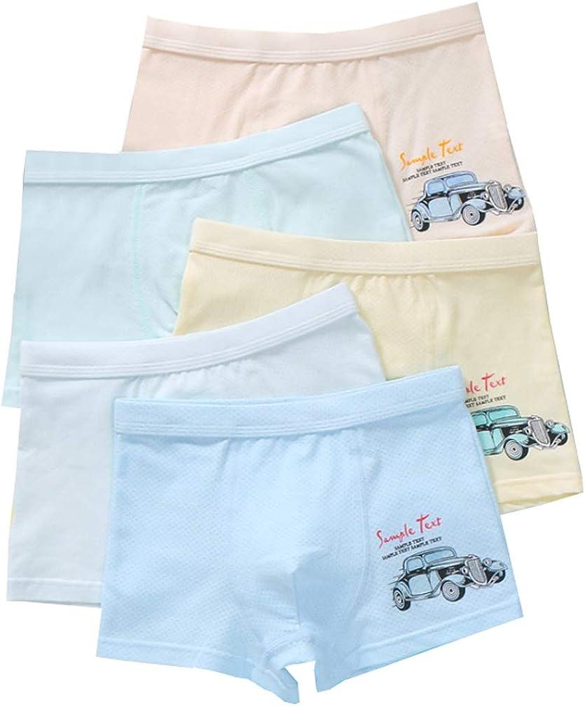 YUMILY 2-10 Years Boys Mesh Ventilate Boxer Shorts Plain Car Underwear Trunks