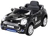 Actionbikes Motors Kinder Elektroauto Mini Cooper Eva Reifen Ledersitz Kinderfahrzeug Kinderauto in vielen Farben (Rot)